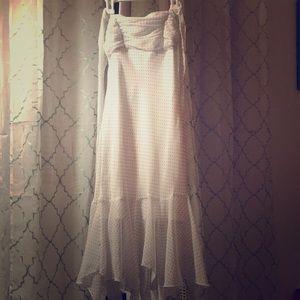 Slip Mermaid White w/ Black Polka Dots Dress
